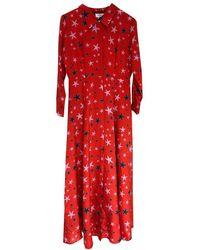 Mercy Delta Rosedene Silk Dress - Starfish Wild - Red