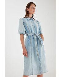 B.Young Bykeyla Denim Dress Light - Blue