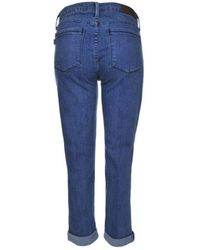 Parker Smith - Jeans Courtney Cuffed Crop In Blue Fin - Lyst