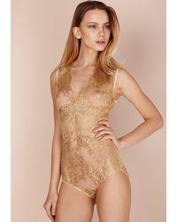 Gilda & Pearl Harlow Lace Body - Metallic