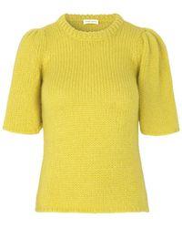 Stine Goya Hesper Yellow Short Sleeve Jumper