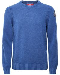 Parajumpers Wool Blend Crew Neck Ema Sweater Colour: Blue