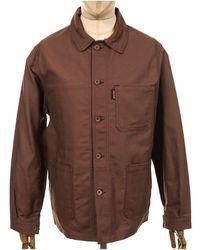 Le Laboureur Cotton Drill Work Jacket - Brown