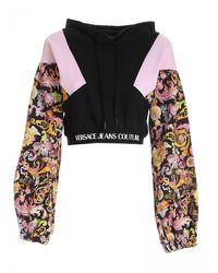 Versace Crop Sweater Release Versailles B6hwa767s0153 899 - Black