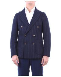 Fefe Jackets Double-breasted Blue Pinstripe