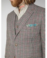 Gibson London Mason Fawn With & Red Check Jacket - Multicolor