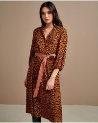 Bellerose Armory Leopard Dress - Brown