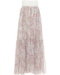Giambattista Valli Silk Skirt - Pink