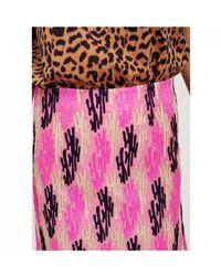 Essentiel Antwerp Siana Embroidered A Line Skirt - Pink