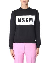 MSGM Crew Neck Sweatshirt - Black