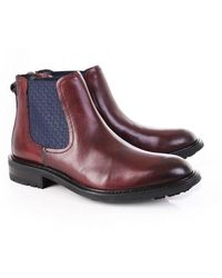 Ted Baker Mens Warkrr Leather Chelsea Boot - Brown