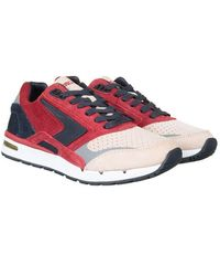 Brooks Heritage X Ubiq Fusion Shoe - Jester /dark Navy - Red