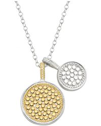 Anna Beck Double Disk Charm Necklace Gold - Metallic