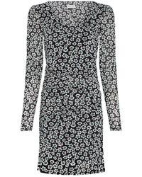 FABIENNE CHAPOT Marie Fleopard Mini Dress - Black