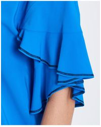 Jucca - V Neck Top In Blue - Lyst