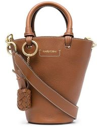 See By Chloé - See By Chlo㉠Women's Chs21ssb05912242 Brown Leather Handbag - Lyst