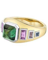 Emily P. Wheeler Green Tourmaline Sugarloaf Ring - Metallic