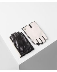 Karl Lagerfeld Leather Gloves With Karl Logo - Multicolor