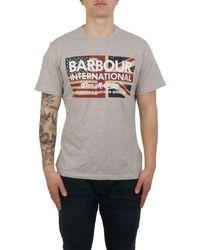 Barbour Men's Batee0396gy52 Grey Cotton T-shirt