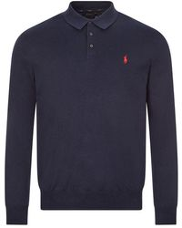 Ralph Lauren Long Sleeve Polo Classic - Blue