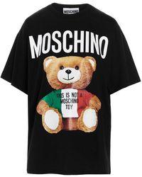 Moschino Women's V070805401555 Black Other Materials T-shirt