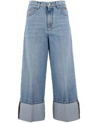 MSGM Oversized Jeans - Blue