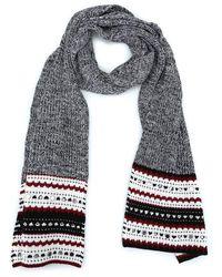 Dondup Women's Wk215m00599002pdd000n Black Wool Scarf