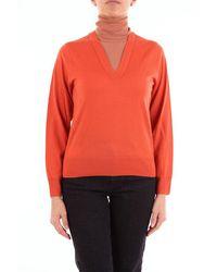 Dries Van Noten Orange Turtleneck Sweater