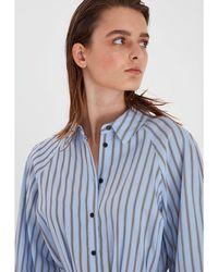 B.Young Byjobina Stripe Shirt Dress - Blue