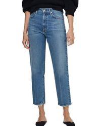 Citizens of Humanity Marlee High Rise Relaxed Taper Jeans - Dimple - Blue