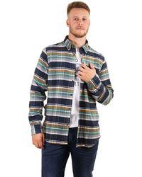 Barbour Steve Mcqueen Rocky Checked Shirt - Blue