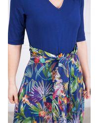 Rene' Derhy Stones Dress In Print - Blue