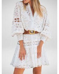 Miss June Yoko Dress | Embroidery Anglaise - White