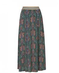 Libertine-Libertine Forget Green Paisley Skirt