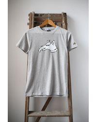 Bella Freud Grey Marl Colour Block Dog T-shirt