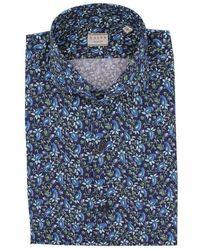 Xacus Men's 61517003722ml003 Blue Cotton Shirt