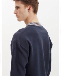 Libertine-Libertine Ecto Sweatshirt In Navy - Blue