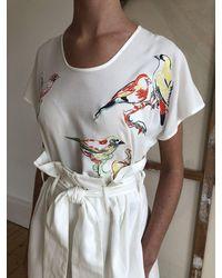 Tallulah & Hope Luxe Tee Lovebirds - White