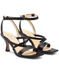 OU. Boutique Stories Sandal Strappy Santorini Black