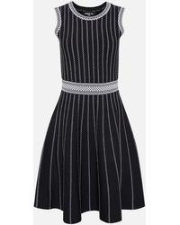 Paule Ka Viscose Skater Dress - Black