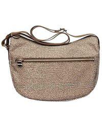 Borbonese - Women's 934107i15994 Beige Polyester Shoulder Bag - Lyst
