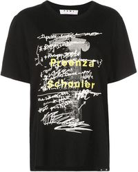 Proenza Schouler Ps White Label Logo T-shirt - Black