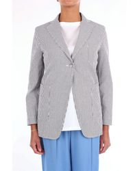 THE M.. . Jackets Blazer Women White And Anthracite
