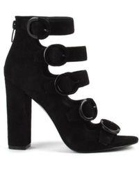 Kendall + Kylie Evie Buckle Heel Boots - Black