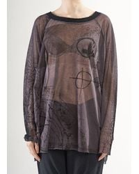 Rundholz Pre-order Aw21 3340508 Top Mocca Print - Brown