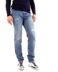 Mauro Grifoni Men's Gh14200891m23rdenim Blue Cotton Jeans