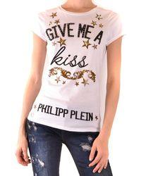 Philipp Plein Tshirt Short Sleeves - White