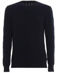 Paolo Fiorillo Capri Argyle Pattern Wool Jumper - Blue