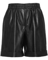 Nude Shorts In Eco Leather - Black