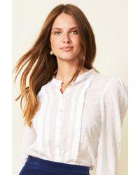 Aspiga Estelle Organic Cotton Blouse   - White